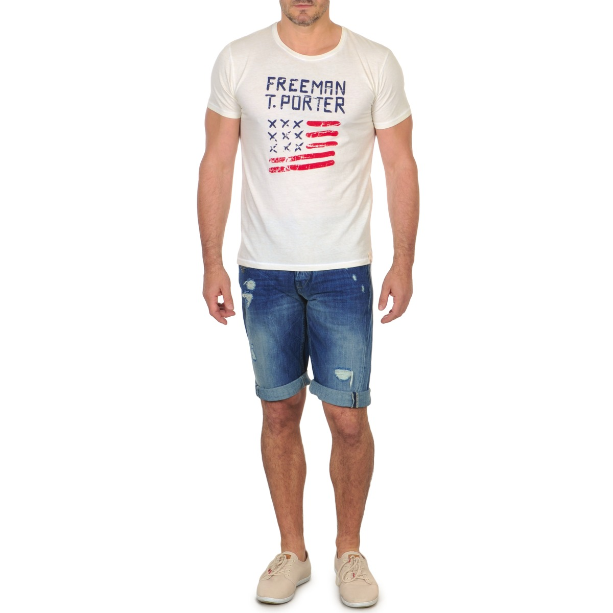 Freeman T.Porter DADECI SHORT DENIM Bleu