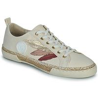Chaussures Femme Baskets montantes Pataugas AUTHENTIQUE/T J2E Beige / Doré / Rose