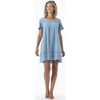 Vêtements Femme Robes courtes La Cotonniere ROBE COURTE CAMELIA Bleu