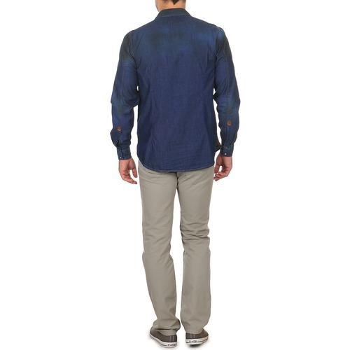 Chemises T Longues Bleu Corwend Manches porter Freeman Denim Homme QxedCBoWr
