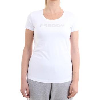 Vêtements Femme T-shirts manches courtes Freddy S1WBCT1 T-Shirt/Polo femme blanc blanc