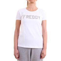 Vêtements Femme T-shirts manches courtes Freddy S1WCLT1 T-Shirt/Polo femme blanc blanc