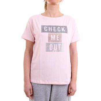 Vêtements Femme T-shirts manches courtes Freddy S1WSDT5 T-Shirt/Polo femme rose rose