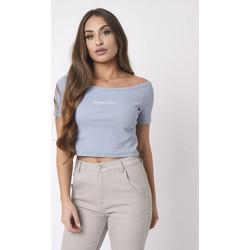 Vêtements Femme T-shirts & Polos Project X Paris Tee Shirt Bleu clair