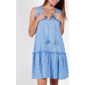 Vêtements Femme Robes courtes Admas Robe estivale sans manches Small Irregular Dots bleu Bleu
