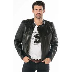 Vêtements Homme Vestes en cuir / synthétiques Daytona TRUCKSTON COW VEG BLACK Noir