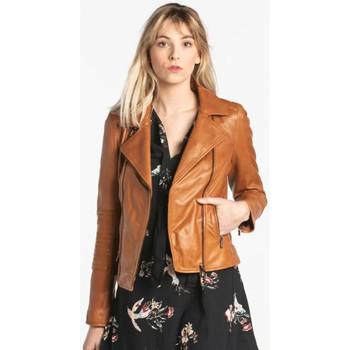Vêtements Femme Vestes en cuir / synthétiques Rose Garden TEMPA LAMB RUBY COGNAC Cognac