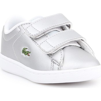 Chaussures Enfant Baskets basses Lacoste Carnaby Evo Argent