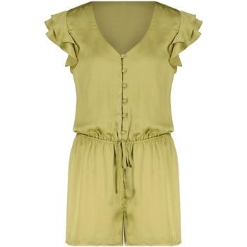 Vêtements Femme Combinaisons / Salopettes Deeluxe Combinaison AUDE Light Khaki