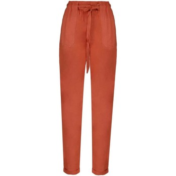 Vêtements Fille Pantalons fluides / Sarouels Deeluxe Pantalon ELIDA Terracota