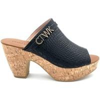 Chaussures Femme Mules Chattawak Compensée 11-ILONA Noir Noir