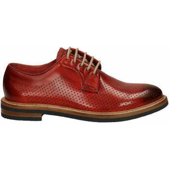 Chaussures Homme Derbies Brecos VITELLO DELAVE' rosso