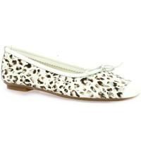 Chaussures Femme Ballerines / babies Reqin's Ballerines cuir velours  / Leopard/argent