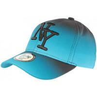 Accessoires textile Casquettes Hip Hop Honour Casquette NY Bleue et Noire Originale Fashion Baseball Renbo Bleu