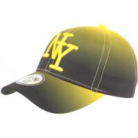Accessoires textile Casquettes Hip Hop Honour Casquette NY Jaune et Noire Classe et Tendance Baseball Renbo Jaune