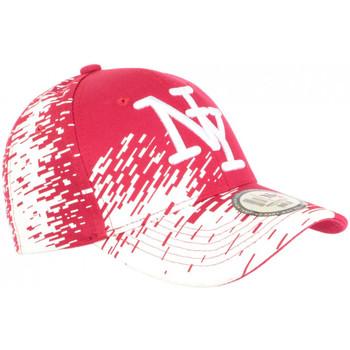 Accessoires textile Casquettes Hip Hop Honour Casquette NY Rouge Tags Blancs City Tendance Baseball Noryk Rouge