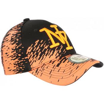 Accessoires textile Casquettes Hip Hop Honour Casquette NY Orange Tags Noirs City Tendance Baseball Noryk Orange