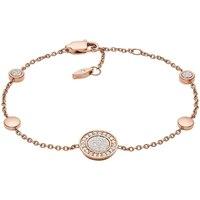 Montres & Bijoux Bracelets Fossil Bracelet  en Acier Rose et Oxyde Rose