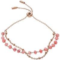 Montres & Bijoux Bracelets Fossil Bracelet  en Acier Rose et Quartz Rose Rose