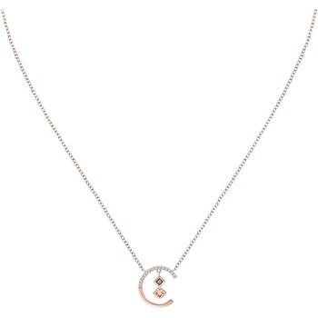 Montres & Bijoux Colliers / Sautoirs Roseline Collier  en Argent 925/1000 Rose et Oxyde Marron Rose