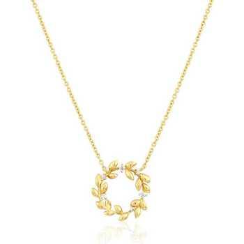 Montres & Bijoux Femme Colliers / Sautoirs Solis Collier  en Argent 925/1000 Jaune et Oxyde Jaune