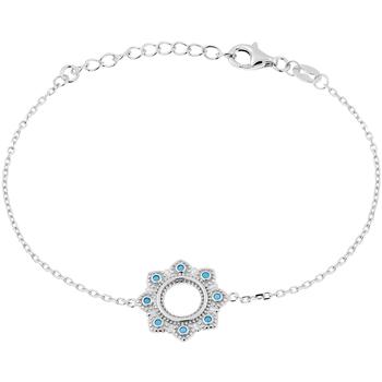Montres & Bijoux Bracelets Tipy Bracelet  en Argent 925/1000 Blanc et Oxyde Bleu Gris