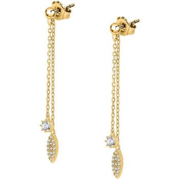 Montres & Bijoux Boucles d'oreilles Cleor Boucles d'oreilles  en Argent 925/1000 Jaune et Oxyde Jaune