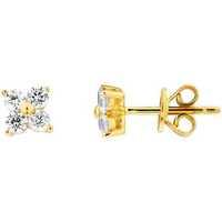 Montres & Bijoux Boucles d'oreilles Cleor Puces  en Argent 925/1000 Jaune et Oxyde Jaune