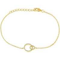 Montres & Bijoux Femme Bracelets Cleor Bracelet  en Argent 925/1000 Jaune et Oxyde Jaune