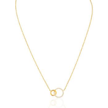 Montres & Bijoux Femme Colliers / Sautoirs Cleor Collier  en Argent 925/1000 Jaune et Oxyde Jaune