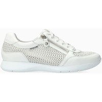 Chaussures Femme Baskets basses Mephisto Baskets cuir MOLLY PERF Blanc