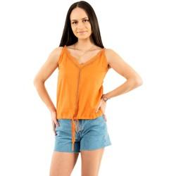 Vêtements Femme Débardeurs / T-shirts sans manche Freeman T.Porter casy plain f954sun orange