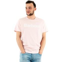 Vêtements Homme T-shirts manches courtes Barbour mts0531 pi32 chalk pink rose