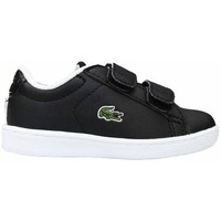 Chaussures Enfant Baskets basses Lacoste Carnaby Evo Strap Noir