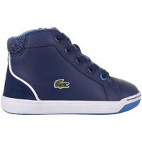 Chaussures Garçon Baskets montantes Lacoste Explorateur Lace Bleu marine