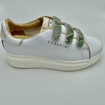 Chaussures Femme Baskets basses Serafini CONNORS BASKETVELCROS MILITA E Blanc