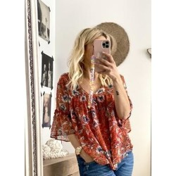 Vêtements Femme Tops / Blouses Orfeo Blouse Orfeo Rouge