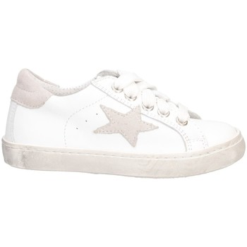 Chaussures Fille Baskets basses Dianetti Made In Italy I9869 Basket Enfant BLANC / GRIS BLANC / GRIS