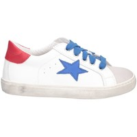 Chaussures Fille Baskets basses Dianetti Made In Italy I9869 Basket Enfant BLANC ROUGE BLANC ROUGE