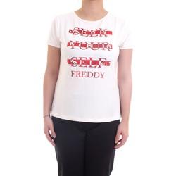 Vêtements Femme T-shirts manches courtes Freddy S1WSLT6 T-Shirt/Polo femme Lait Lait