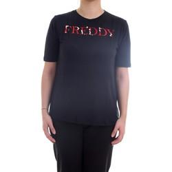 Vêtements Femme T-shirts manches courtes Freddy S1WSLT5 T-Shirt/Polo femme noir noir