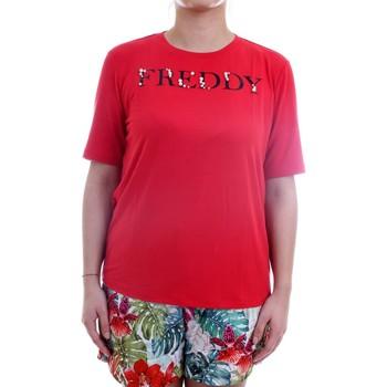 Vêtements Femme T-shirts manches courtes Freddy S1WSLT5 T-Shirt/Polo femme rouge rouge