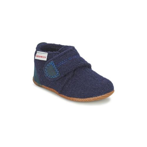 Pantoufles / Chaussons Giesswein OBERSTAUFEN Bleu 350x350