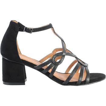 Chaussures Femme Sandales et Nu-pieds The Divine Factory Sandale À Talon Noir