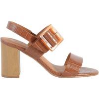 Chaussures Femme Sandales et Nu-pieds The Divine Factory Sandale À Talon Camel