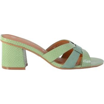 Chaussures Femme Mules The Divine Factory Mule Vert d'Eau