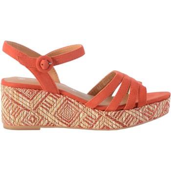 Chaussures Femme Sandales et Nu-pieds The Divine Factory Sandale Compensée Corail