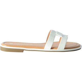 Chaussures Femme Mules The Divine Factory Sandale Blanc