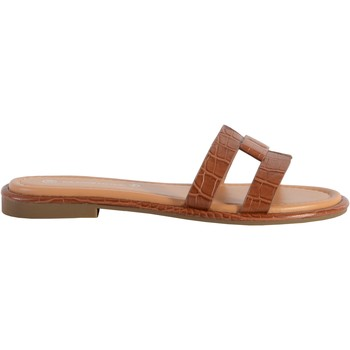 Chaussures Femme Mules The Divine Factory Sandale Camel