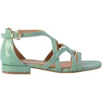 Chaussures Femme Sandales et Nu-pieds The Divine Factory Sandale QL4332 Vert d'Eau
